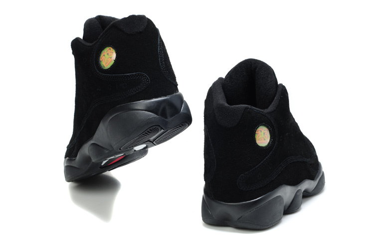 Air Jordan 13 Suede All Black Shoes