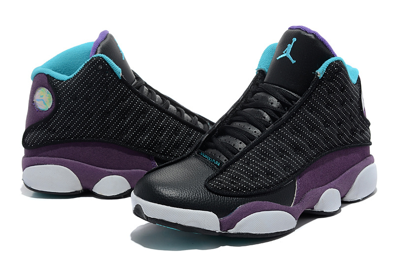 Air Jordan Black And Purple