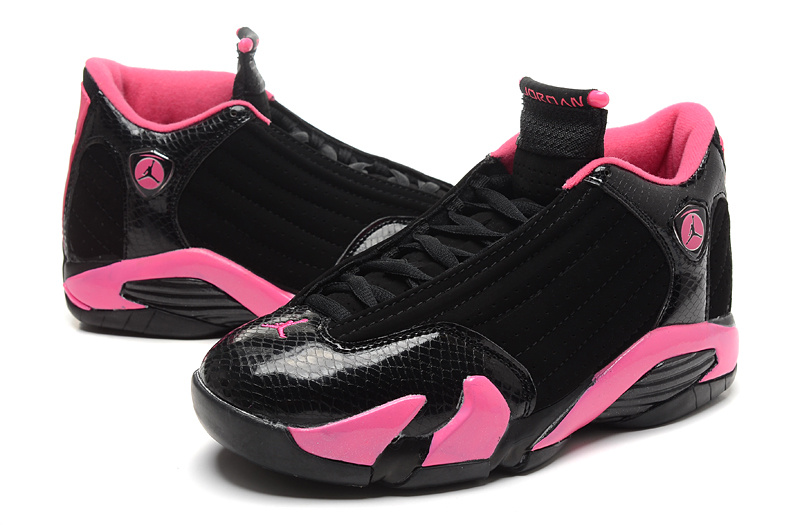 Black Pink Air Jordans 14 For Women