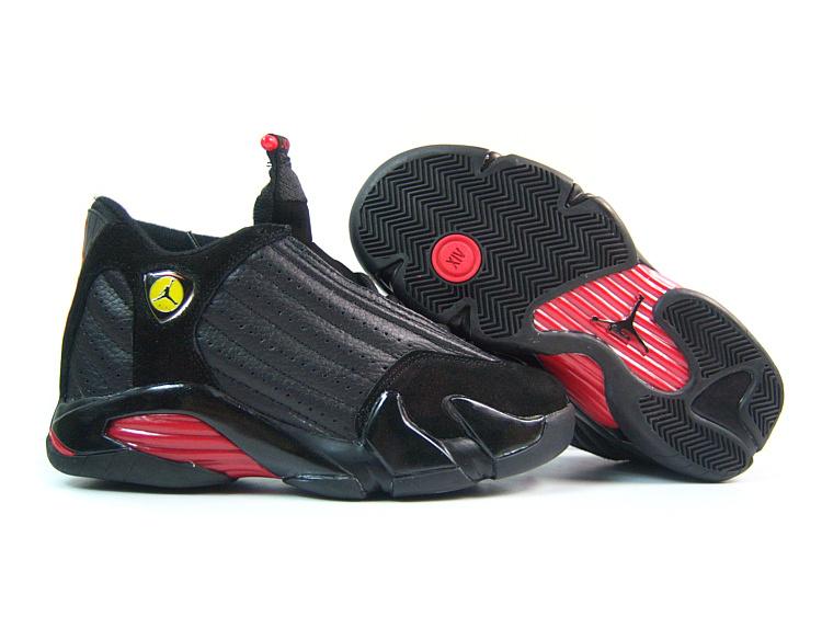 Air Jordan 14 Black Red For Women