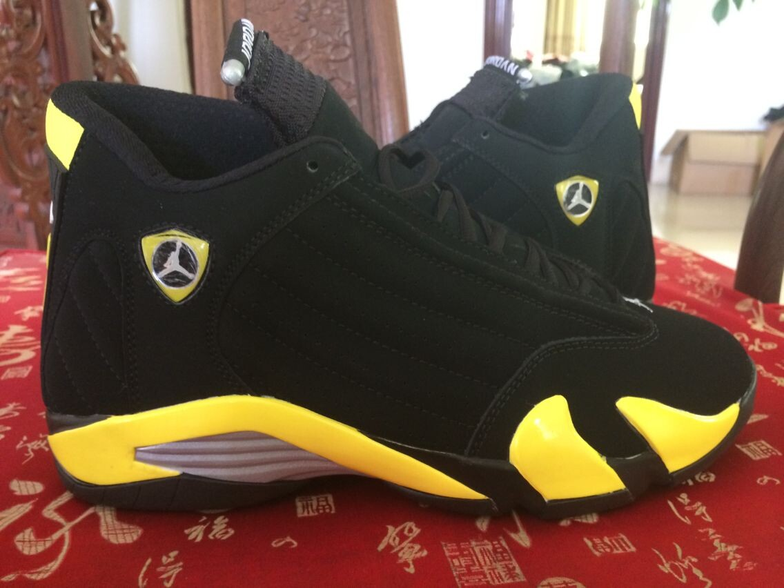 Air Jordan 14 Black Yellow Basektball Shoes