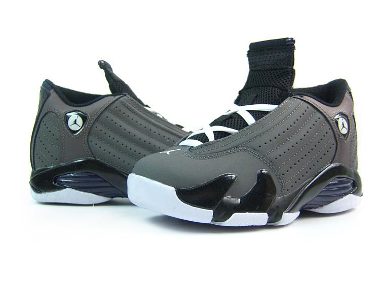 Air Jordan 14 Grey White For Women