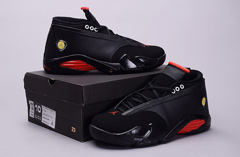 2015 Air Jordan 14 Retro Low 30th Black Red Shoes