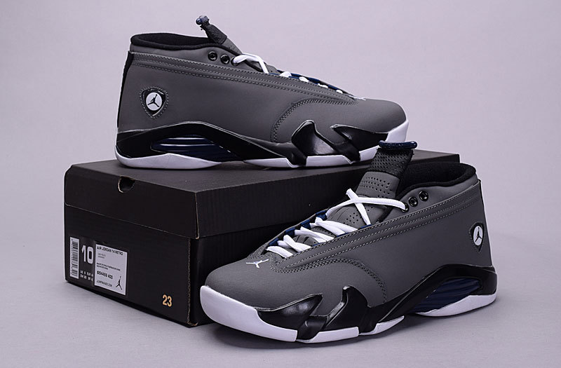 2015 Air Jordan 14 Retro Low 30th Grey Black White Shoes