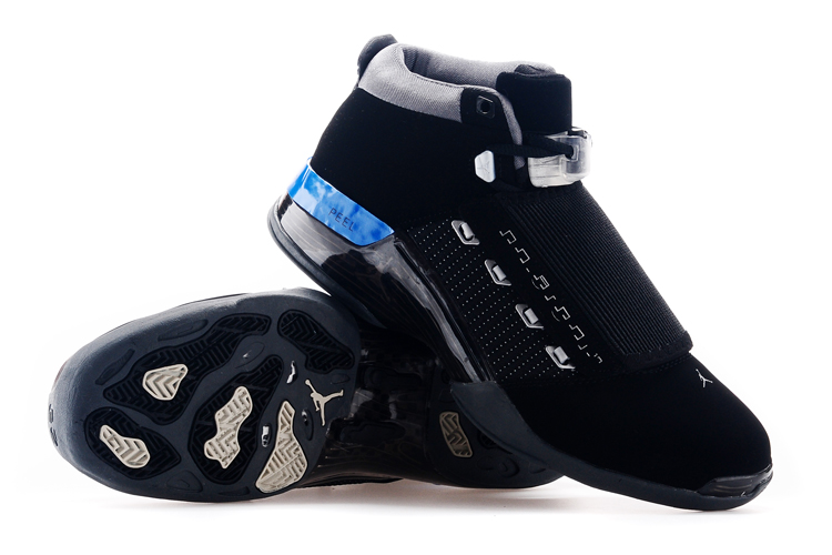 Air Jordan 17 Black Blue Basketball Shoes