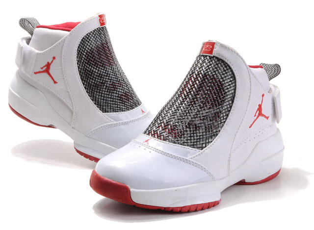 Air Jordan 19 White Red For Women