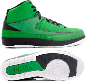 Air Jordan Retro 2 Green Chrome