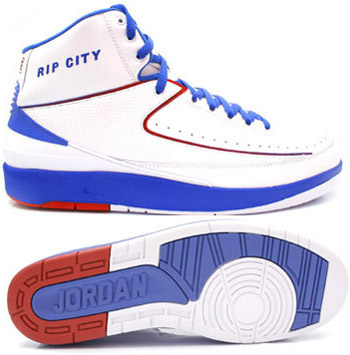 Air Jordan Retro 2 White Blue White Chrome