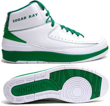 Air Jordan Retro 2 White Green Chrome