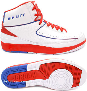 Air Jordan Retro 2 White Red Blue Chrome