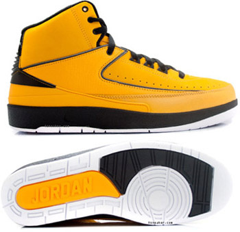 Air Jordan Retro 2 Yellow Chrome