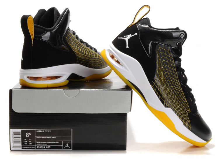 Air Jordan Fly Spiderman 23 Black Yellow White