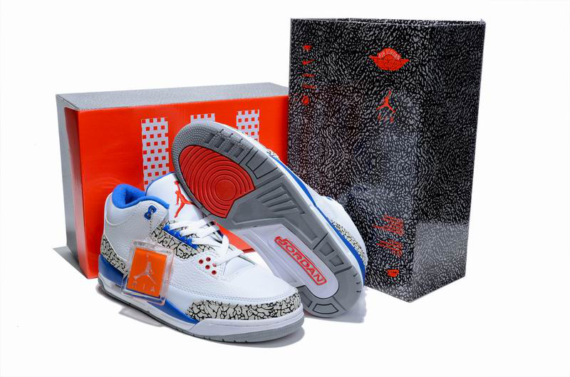 Air Jordan 3 Hardcover Box White Cement Blue Shoes