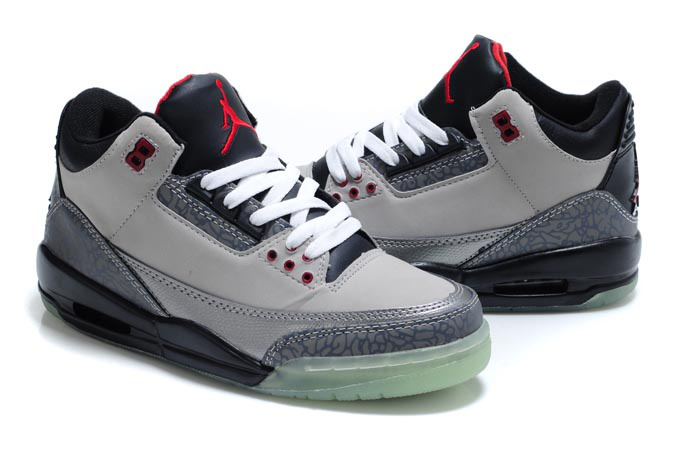 Air Jordan Shoes 3 Midnight Grey Black