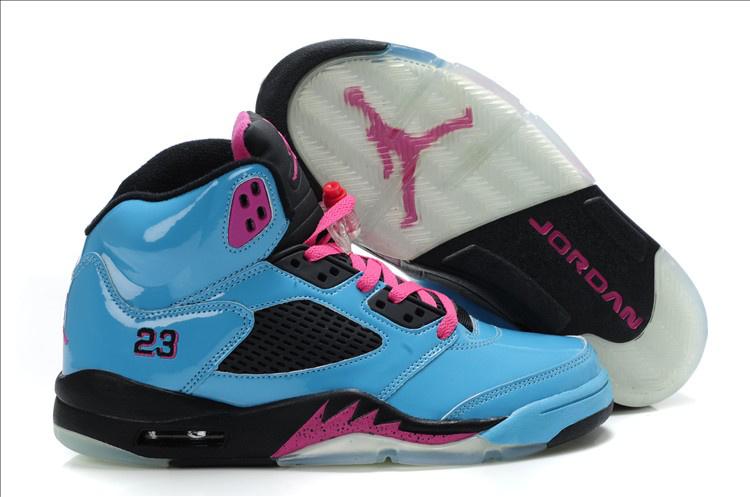Air Jordan 3.5 Blue Black Pink For Women