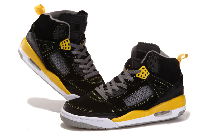 2012 Air Jordan 3.5 Suede Black White Yellow Shoes