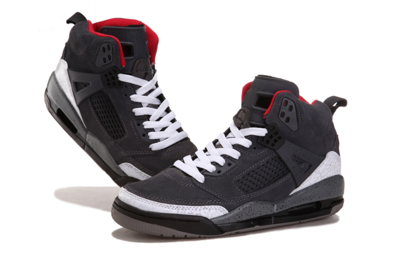 2012 Air Jordan 3.5 Suede Grey White Black Red Shoes