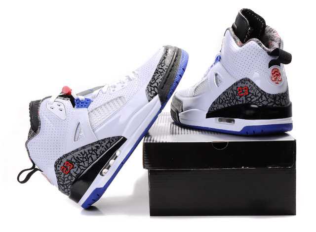 Air Jordan Shoes 3.5 White Grey Blue