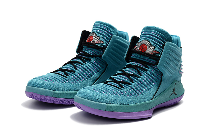 2017 Jordan 32 Blue Purple Black Shoes