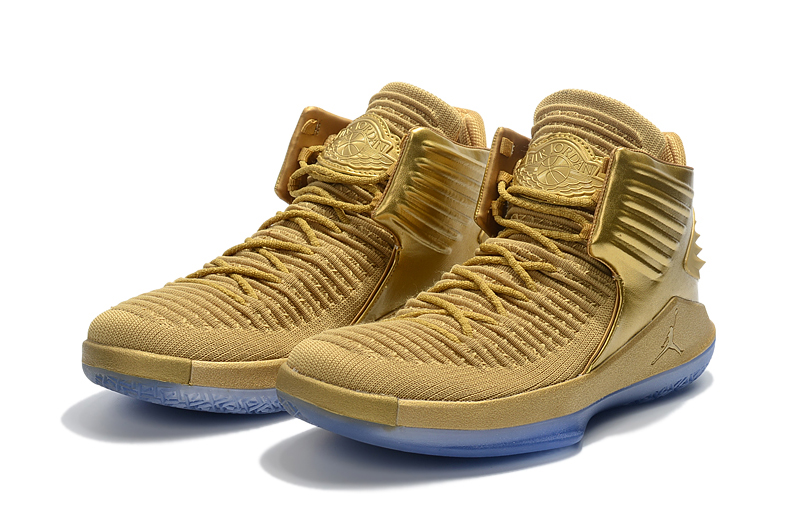 2017 Jordan 32 Gold Ice Sole Shoes