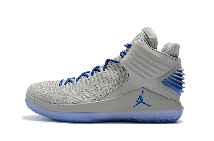 2017 Jordan 32 Grey Blue Shoes
