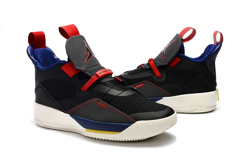 Air Jordan 33 Black Red Blue Shoes