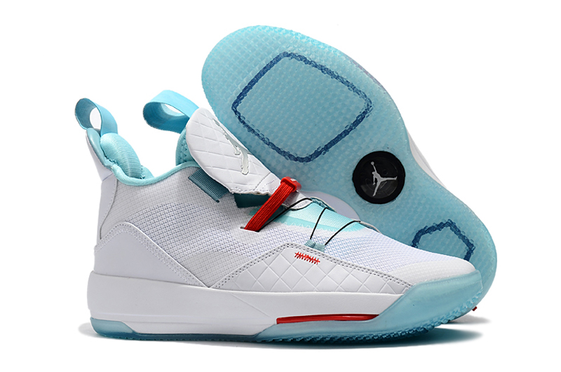 Air Jordan 33 White Blue Shoes