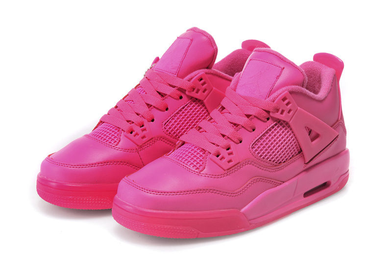 Women Jordans 4 All Hot Pink
