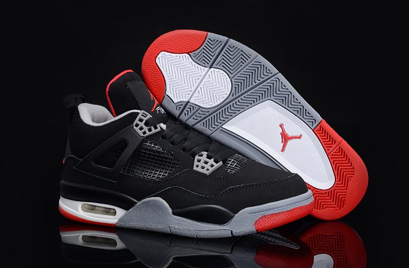 Nike Air Jordan Retro 4 Svart Og Rød hJErYu7PS