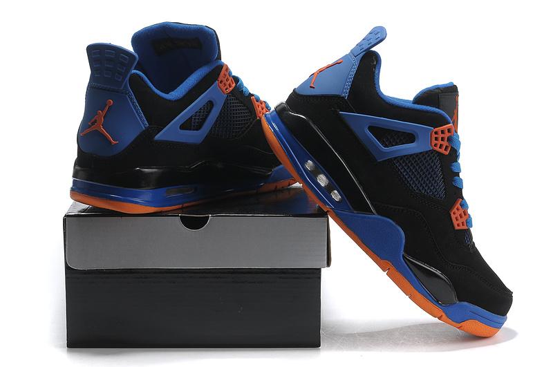 womens air jordan retro 4 orange blue