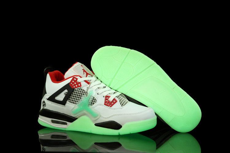 2012 Air Jordan 4 Midnight White Black Red Shoes