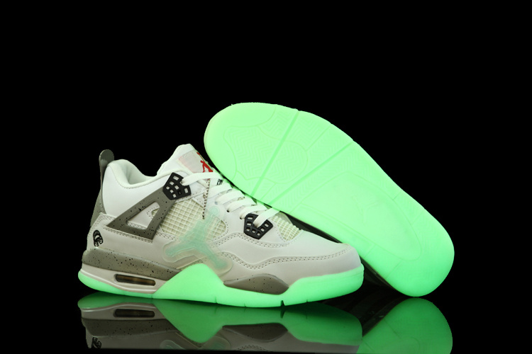 2012 Air Jordan 4 Midnight White Grey Shoes