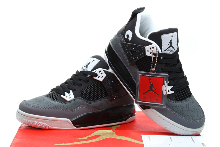 Air Jordan 4 Retro Superman Black Grey White Shoes