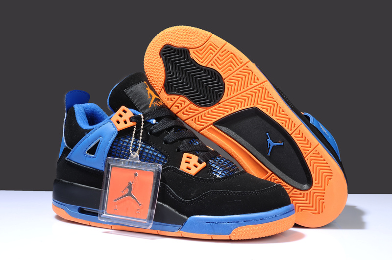 Buy Nike Jordan 4 Cheap sale Black Yellow Orange