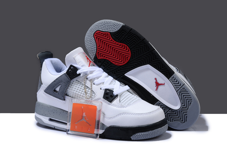 Air Jordan 4 White Black Grey For Women