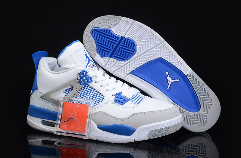 Air Jordan 4 White Blue For Women