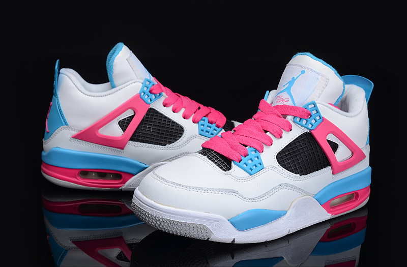 Air Jordan Retro White Blue Pink
