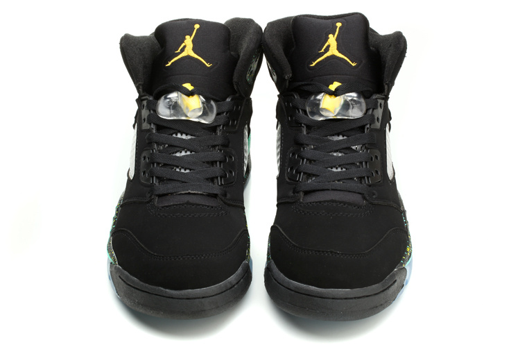 2015 Jordans 5 World Cup Brazil Black Blue