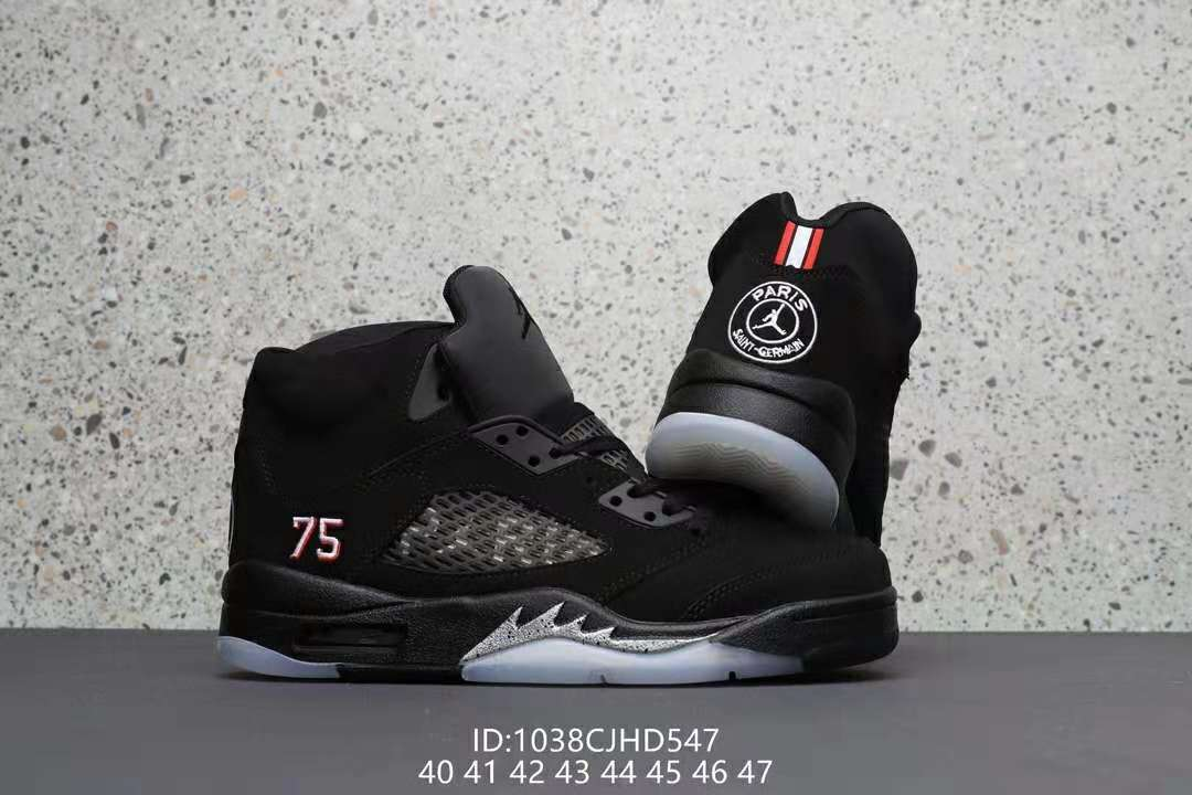 Air Jordan 5 Black Pairs Shoes