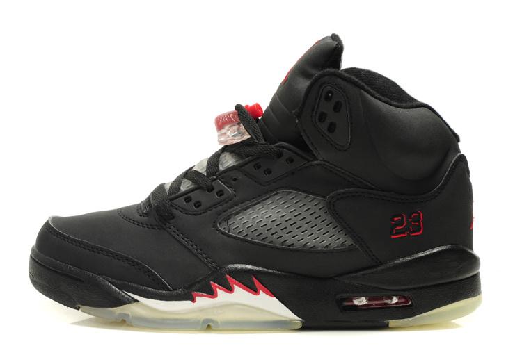 Air Jordan 5 Negro / Rojo Del Equipo Universitario Jordan 6 av4Gntcgh