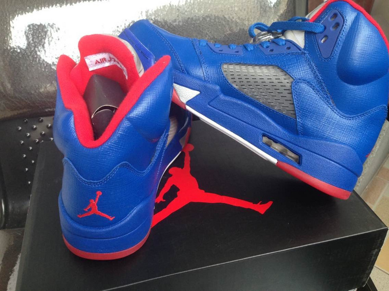 2015 CP3 Blue Red Jordans 5 Shoes