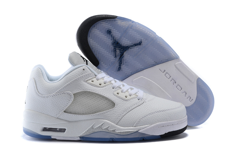 Latest Air Jordan 5 Low All White Shoes