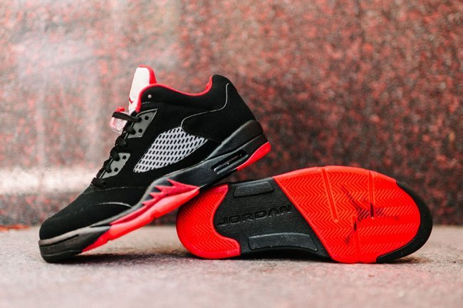 2016 Air Jordan 5 Retro Low Alternate Black Red