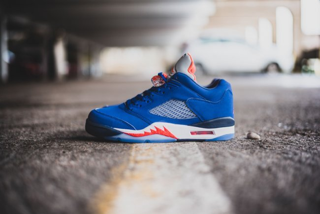 2016 Air Jordan 5 Retro Low Cavs Blue Red White Shoes