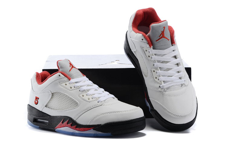 Air Jordan 5 Retro Low White/Black/Fire Red