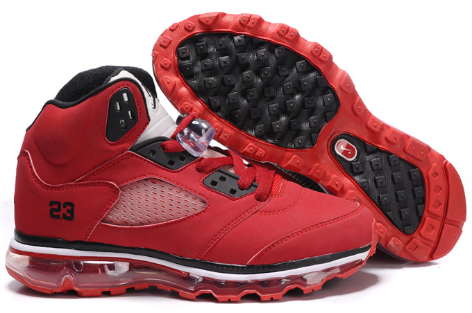Air Jordan 5 Max Red White Black For Women