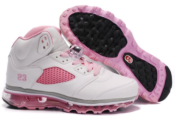 Air Jordan 5 Max White Pink Black For Women