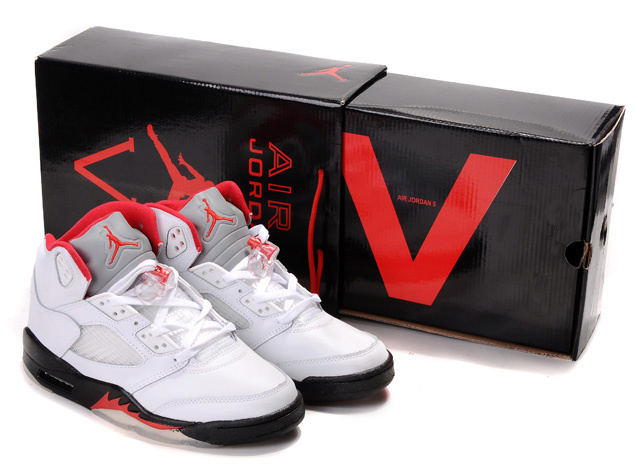 Air Jordan 5 Retro Hardcover Box White Black Red