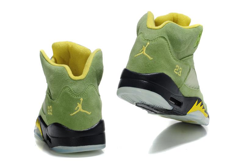 the latest e4f2c eb7bc ... retro 18 gold air jordan 5 suede green black shoes .. ...