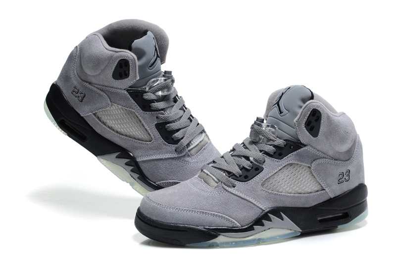 jordan shoes 5s gray suede 784164